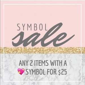 💖SYMBOL SALE💖 READ BELOW 💖